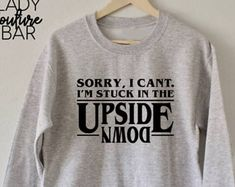 The Upside Down Sweatshirt, Stranger Things Sweatshirt, The Upside Down, Hawkins Middle School AV Club Sweatshirt, Stranger Things Shirt
