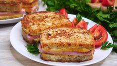 Pâine prăjită pentru mic dejun – sandwich-uri rapide și delicioase. Vă vin în ajutor când doriți să diversificați meniul de dimineață. INGREDIENTE (PENTRU 4 SANDWICH-URI): -8 felii de pâine; -4 felii de cașcaval; -4 felii de salam; -1 ou; -20 ml de lapte; -sare – după gust. MOD DE PREPARARE: 1.Tăiați feliile de salam după marimea feliilor de pâine. 2.Feliile de cașcaval le tăiați în jumătate. 3.Așezați pe felia de pâine cașcavalul, salamul și iarăși o felie de cașcaval, apoi acoperiți cu… Salmon Burgers, Cookie Recipes, Foodies, French Toast, Sandwiches, Tasty, Breakfast, Ethnic Recipes, Youtube