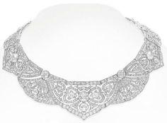 Belle Epoque diamond necklace. Via Diamonds in the Library.