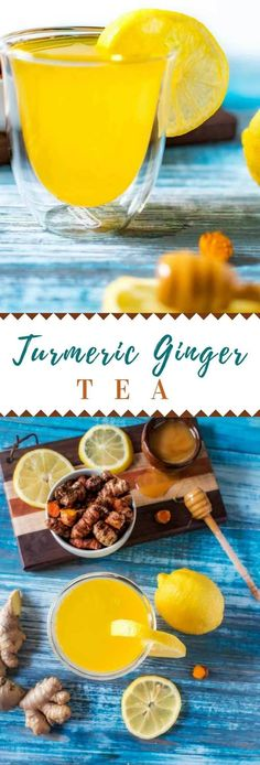 Discover the best health and diet benefits of turmeric and ginger tea and why this herbals can reduce the pain and inflammation quickly!