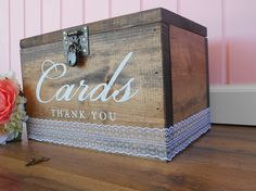 Brides are loving our fun colorful red barnwood card boxes www ...