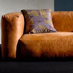 Sofa MAGS SOFT en cuir SILK, les modules. HAY