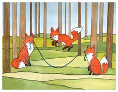 Fox Art Print- Fox Watercolor Painting  Nursery Art Print  Nursery Decor- 11x14 large print by DanielleVGreen on Etsy https://www.etsy.com/listing/168513553/fox-art-print-fox-watercolor-painting