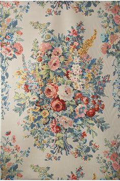 Vintage Floral Fabric, Retro Floral, Vintage Prints, Vintage Textiles, Victorian Wallpaper, Antique Wallpaper, Chintz Fabric, Hand Printed Fabric, Mandala Pattern