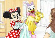 love it. Minnie & Daisy as your ladies in waiting (Tokyo Disney Fairy Tale Weddings site) #disneyweddings