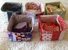 Patchwork Quilted Storage Box