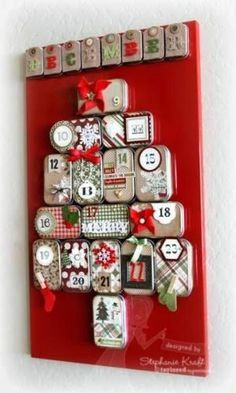 Decorated Advent tins! by molly