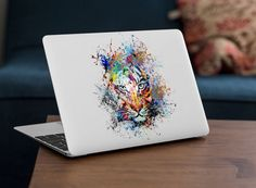 iCasso Removable Vinyl Decal Sticker Skin for Apple MacBook Pro Air Mac inch/Unibody 13 Inch Laptop (Tiger) Macbook Pro Skin, Macbook Decal, Macbook Air 11, Apple Macbook Pro, Air Mac, Computer Accessories, Vinyl Decals, Laptop, Stickers