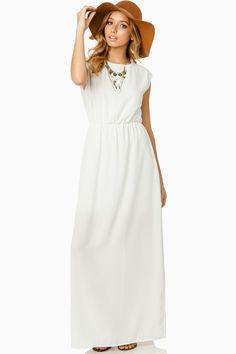 Seren Maxi Dress in White / ShopSosie #shopsosie #sosie