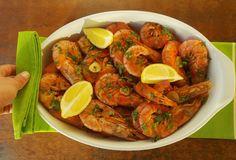 O Meu Tempero: Camarão ao alhinho Portuguese Recipes, Portuguese Food, Shrimp, Seafood, Meat, Cooking, Drinks, Products, Fish Dishes