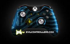 XboxOneController-BlueZebra   Flickr - Photo Sharing! #XboxOneController #Xbox1Controller #CustomXboxOneController #ModdedXboxOneController #CustomController #moddedcontroller