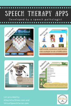 Great list of speech therapy apps to address articulation, phonology, apraxia and more!
