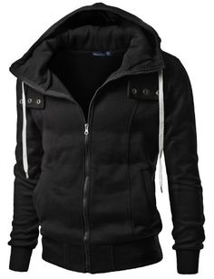 Save $23.00 on Doublju Mens Zip up Hood Jumper with Slim line; only $34.99 + Free Shipping
