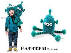 Ravelry: ZaZu Space Monster Hat and Toy Set - Crochet PDF Pattern pattern by Ira Rott