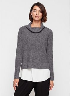Yak and merino pullover at Eileen Fisher