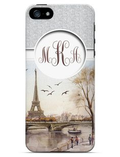 Personalized Cell Phone. Case. Personalized Paris. I Phone 4, I Phone 5, Galaxy 3, Galaxy 4