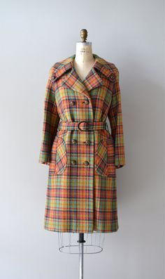 1960s Donegal Dubliner plaid tweed coat