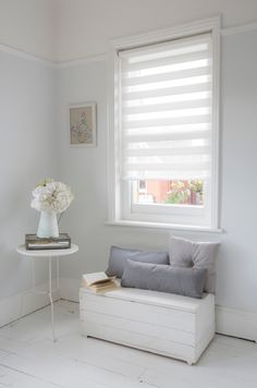 A cosy corner for the perfect moment to read. Luxaflex® Twist® Roller Blinds…