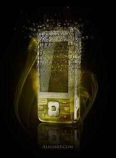 Fragmented Golden Phone