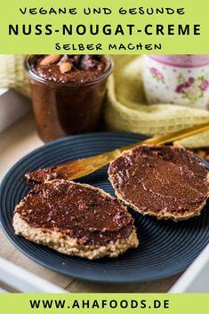 Nuss Nougat Creme, Buddha Bowl, Snacks, Healthy Recipes, Healthy Food, Food Inspiration, Breakfast, Vegane Rezepte, Vegan Treats