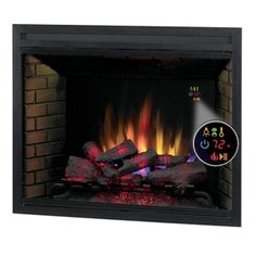 """ClassicFlame 39"""" LED Builders Box with Fixed Glass - 39EB500GRA"""