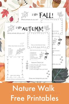Autumn nature walk treasure hunt printable - fall treasure hunt printable, autumn nature journal printables for fall Nature Hunt, Autumn Nature, Nature Study, Outdoor Scavenger Hunts, Scavenger Hunt For Kids, Autumn Leaves Craft, Leaf Book, Tree Collage, Happy Mom