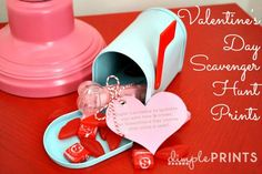 FREE Valentines Day Scavenger Hunt Clues and printables!