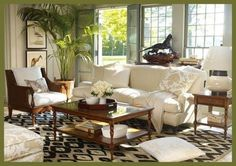 Exotic with retro styled tables. Description from bestlivingroomdesigns.com.