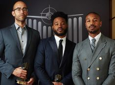 November 2018 - Had the honor and pleasure of presenting my two good friends Ryan Coogler and Nate Moore with the HFA's Best Film Award for Black Panther last night. Michael Bakari Jordan, Ryan Coogler, Two Best Friends, Brown Girl, Second Best, Film Awards, Celebs, Celebrities, Music Lovers