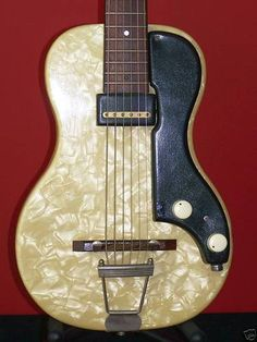 "1953 Supro Ozark with a Valco ""PAF"" style Brontosaurus single coil pickup"