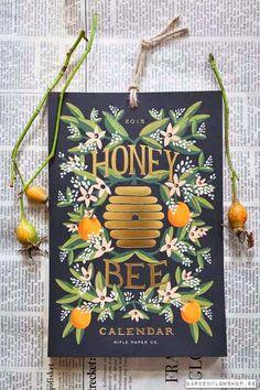 lovely honey bee calendar