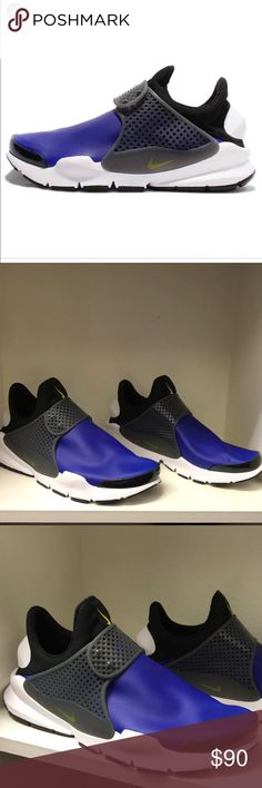 Brand New Men's Nike shoes These men's Nike Sock Dart Paramount Blue shoes are brand new, never worn. I do not have original box but I will ship in a different Nike box. Thank you for checking out my closet and reasonable offers are always considered! Nike Shoes Athletic Shoes