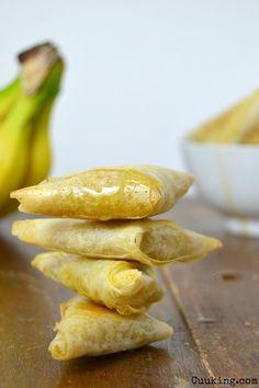Samosas de plátano, jengibre y miel // Banana samosas with ginger and honey
