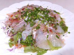 Carpaccio salad with cavier lime