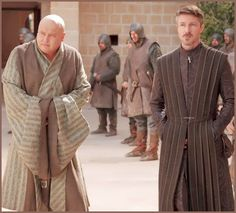 Game of Thrones: Conleth Hill as Varys 'the Spider' & Aidan Gillen as Petyr 'Littlefinger' Baelish in Kings Landing.