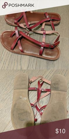 American Eagle Sandals Brown Sandals. Worn a few times to the beach. American Eagle Outfitters Shoes Sandals