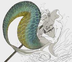 One Piece, Merman Trafalgar Law Zoro One Piece, One Piece Anime, One Piece Zeichnung, Chibi, Dragons, One Piece Drawing, Mermaids And Mermen, Trafalgar Law, Merman