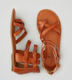 Clear Beige AEO Strappy Gladiator Sandal size 7