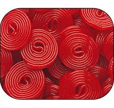 Haribo Red Licorice Wheels: 5LB Bag