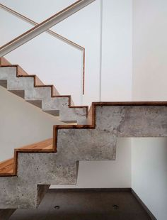 Professionals in staircase design, construction and stairs installation. In addition EeStairs offers design services on stairs and balustrades.Check out our work >> Concrete Stairs, Concrete Wood, Wood Stairs, House Stairs, Painted Stairs, Basement Stairs, Timber Stair, Open Basement, Basement Ideas