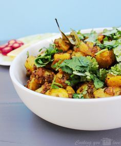Instant Pot Achari Aloo is a simple, flavorful and tangy potato dish. Potatoes are pressure cooked with dry Indian spices. making them flavorful by evenly coating each piece. This is a easy to make recipe ready in just under 10 minutes!