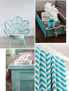 Turquoise decor  #home #decor #turquesa