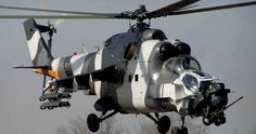 "ATE ""Super Hind"" Mk III Mil Mi-24 ""Hind"" updated in South Africa with Western electronics and other modifications."