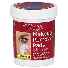 Andrea Eye Qs 65Count Extra Gentle OilFree Eye Makeup Remover Pads *** To view further for this item, visit the image link. (Note:Amazon affiliate link) Makeup Remover Pads, Eyes, Image Link, Note, Amazon, Amazons, Riding Habit, Cat Eyes
