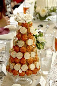 Mini Croquembouche ... a great idea for a wedding centerpiece mini croquembouch, mini wedding cake ideas, wedding cakes