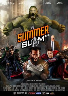 Excited for #SummerSlam this Sunday! Love this poster! @WWE #WWEMoms #JohnCena #CMPunk