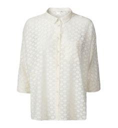 Gae Semi Sheer Dotted Shirt