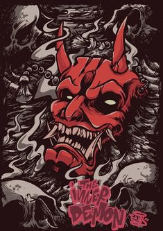 The inner demon Japanese Artwork, Japanese Tattoo Art, Art Sketches, Art Drawings, Samurai Artwork, Demon Artwork, Arte Ninja, Japon Illustration, Japan Art