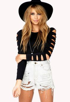 ShopStyle.com: FOREVER 21 Cutout Stretch-Fit Top $15.80