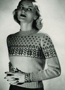 Scandinavian Sweater Pattern No. 5318- free vintage knitting pattern.